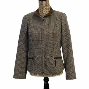 Talbots Wool Blend Coat Houndstooth 12P